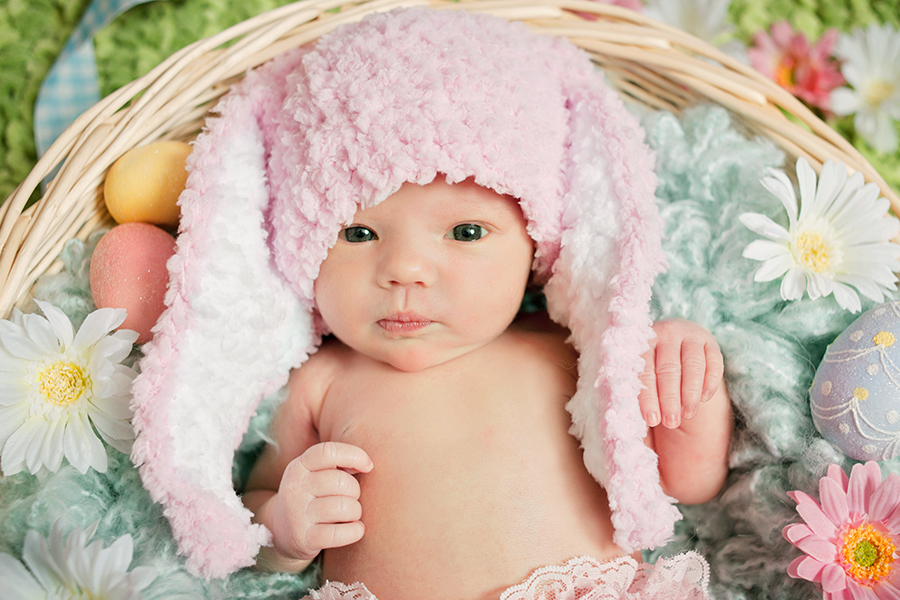Easter Newborn photography
