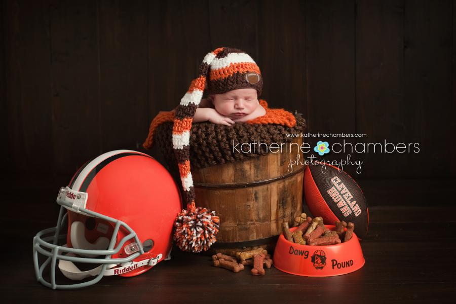 Cleveland Browns Newborn, Cleveland Baby Photography, Cleveland Newborn Photography, Cleveland Ohio Newborn photographer, Katherine Chambers Photography, www.katherinechambers.com