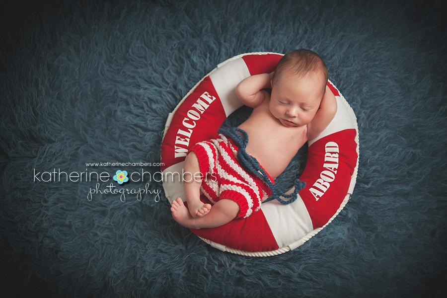 www.katherinechambers.com, Cleveland Newborn Photographer, Katherine Chambers Photography, Nautical newborn