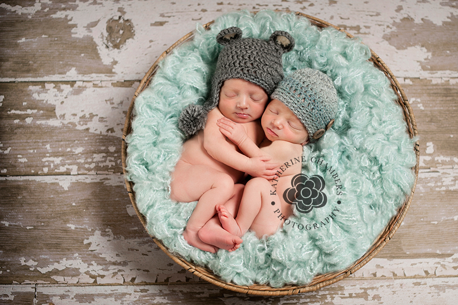 Cleveland Newborn twins photography