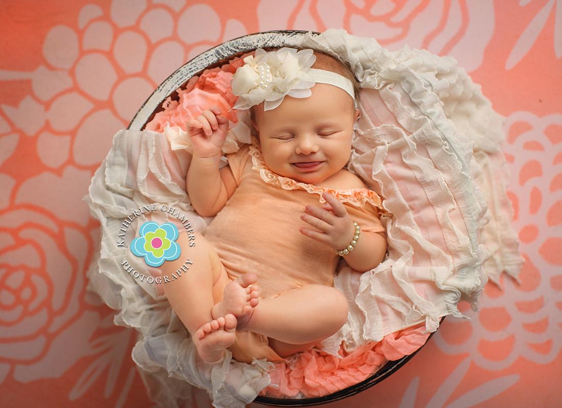 Peach and cream newborn colors, Cleveland, Ohio Newborn Baby Photographer (9)