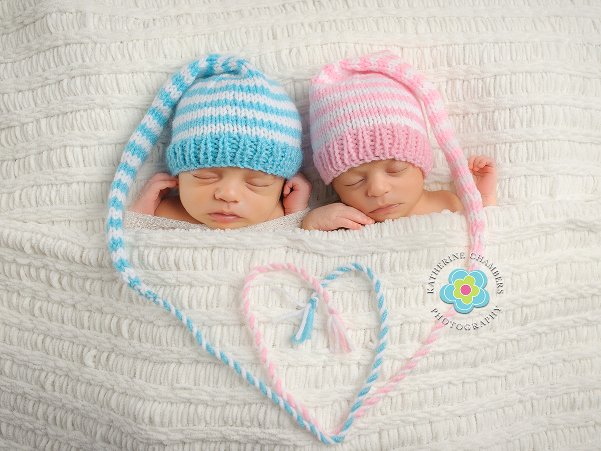 Avon Ohio newborn twins photographer, Cleveland twins photography, Katherine Chambers