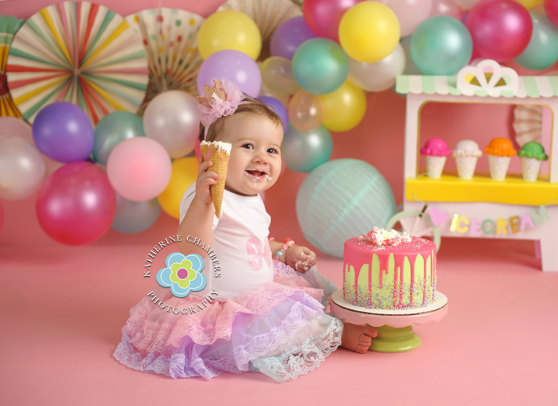 Ice Cream Cake Smash, Avon Lake Baby Photographer, One Year Session, Baby's First Year Package (9)