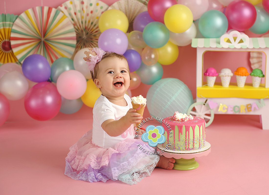 Ice Cream Cake Smash, Avon Lake Baby Photographer, One Year Session, Baby's First Year Package (6)