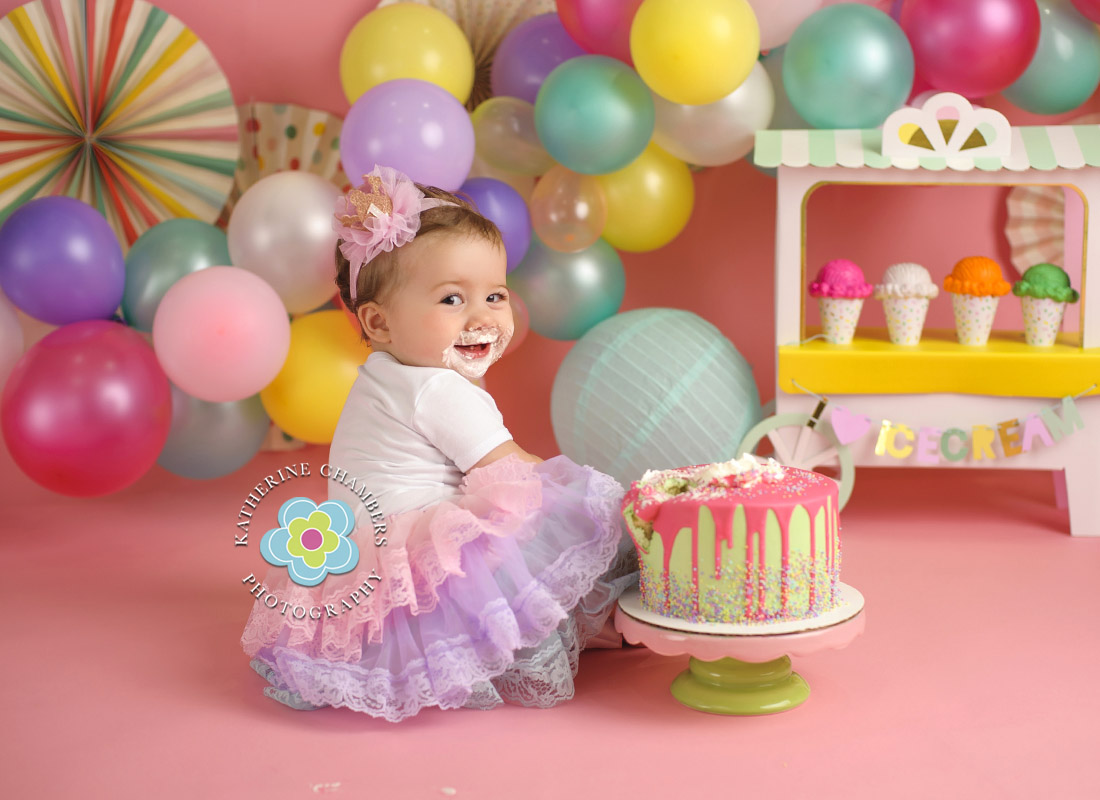 Ice Cream Cake Smash, Avon Lake Baby Photographer, One Year Session, Baby's First Year Package (4)
