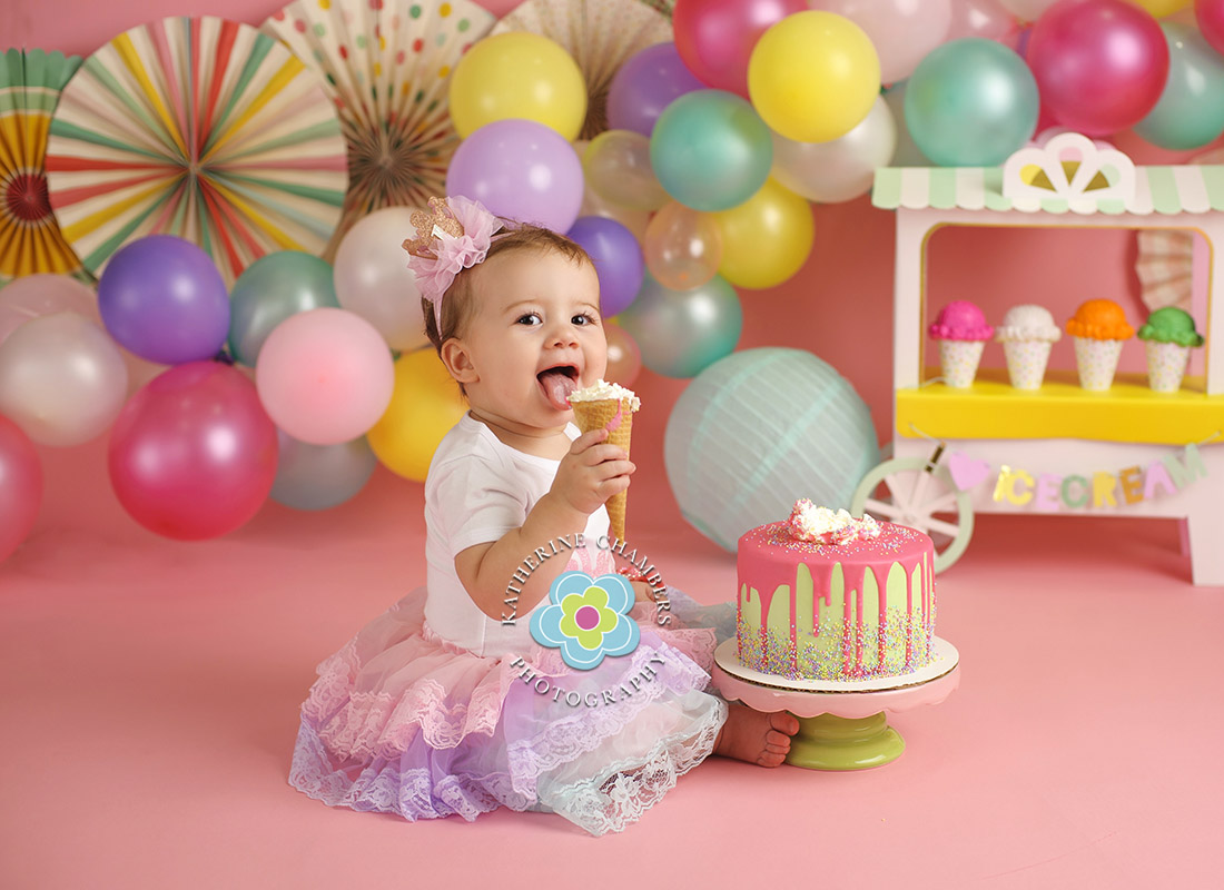 Ice Cream Cake Smash, Avon Lake Baby Photographer, One Year Session, Baby's First Year Package (1)