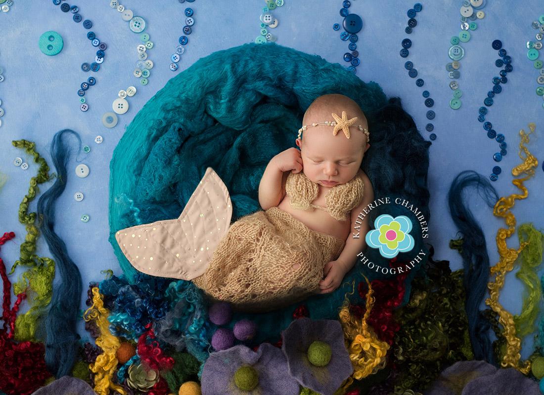 Little Mermaid Newborn | Under the Sea Newborn | Macedonia Newborn Photographer | Creative Newborn Photography