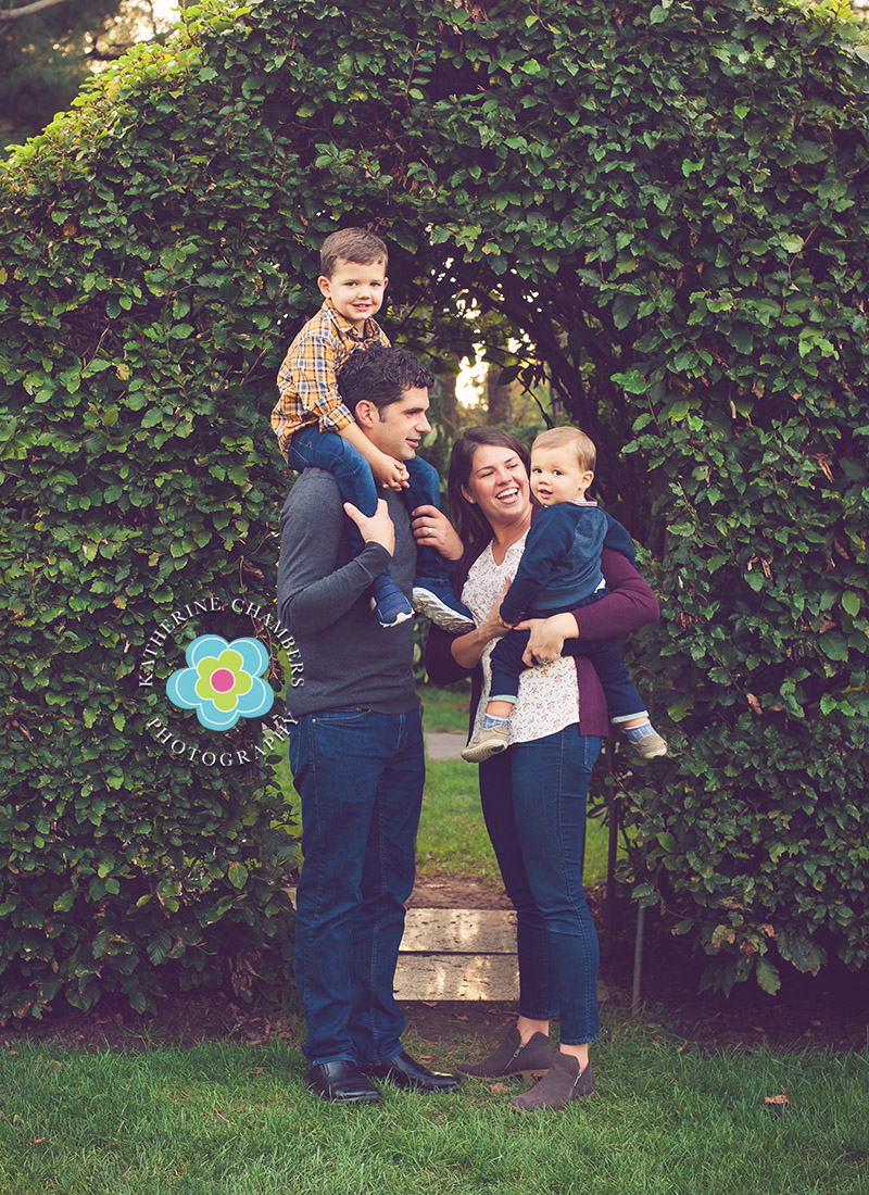 Garden Photo Session   Best Cleveland Family Photographer   Fall Family Photos