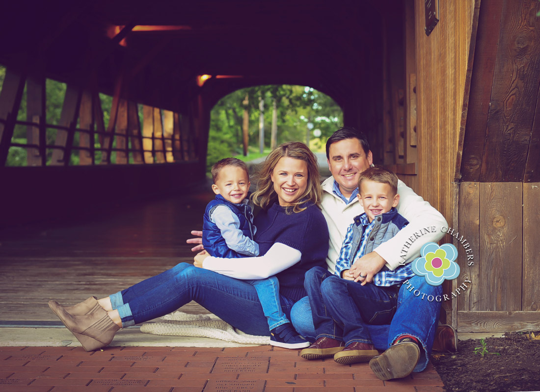 Family Portrait Photography | Cleveland Family Photography | North Olmsted Covered Bridge