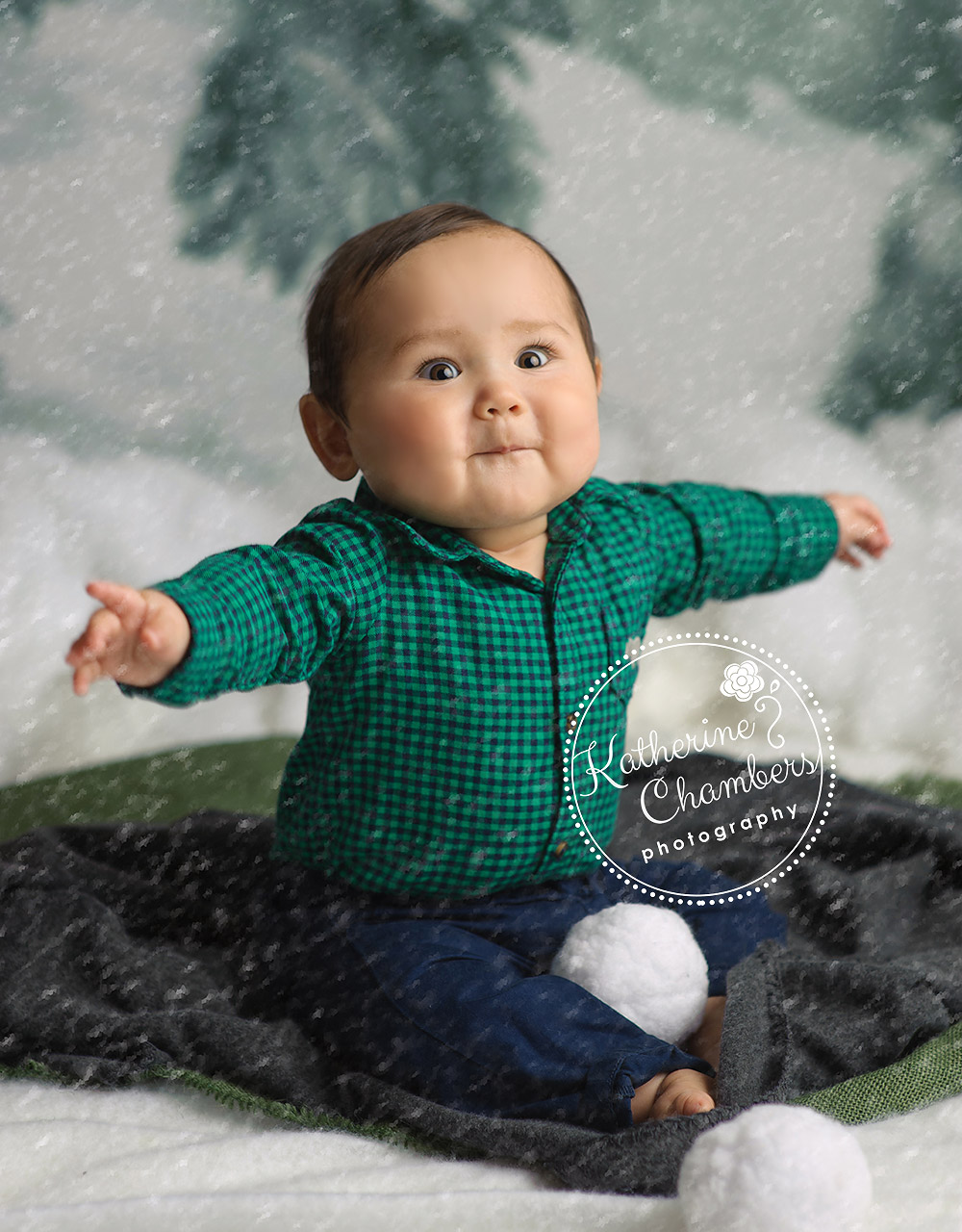 Cleveland Baby Photographer, Baby's First Year, Baby Holiday Photo