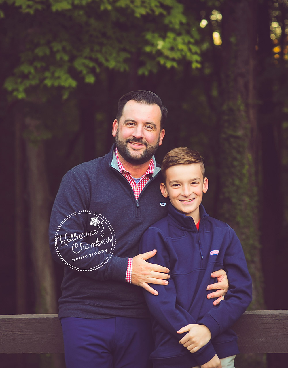 Dad and Son, Covered Bridge, Cleveland Fall Family Photos