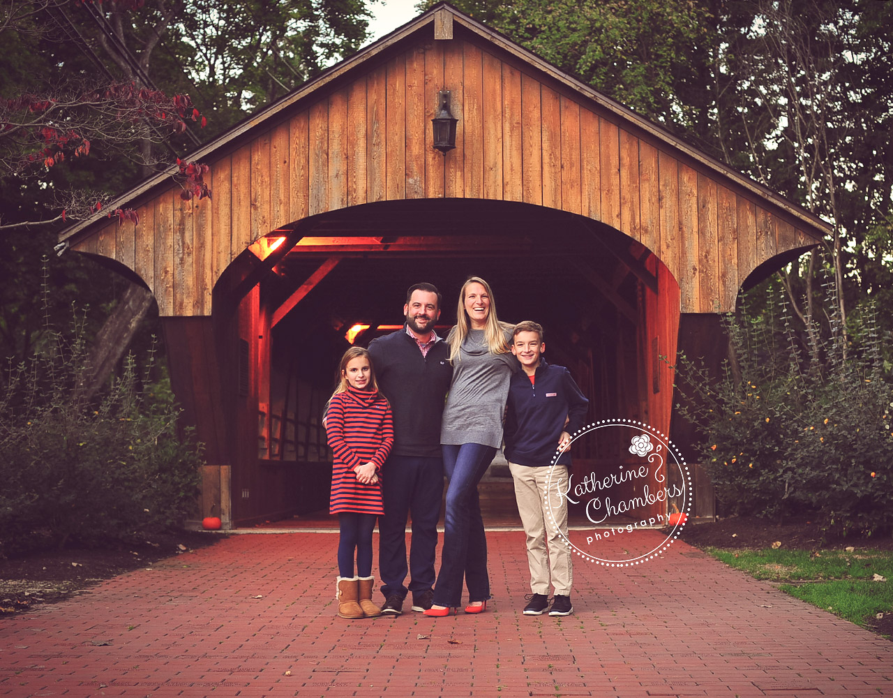 Best Family Photographer Cleveland, Family of 4, Covered Bridge, Fall Family Photos (1)