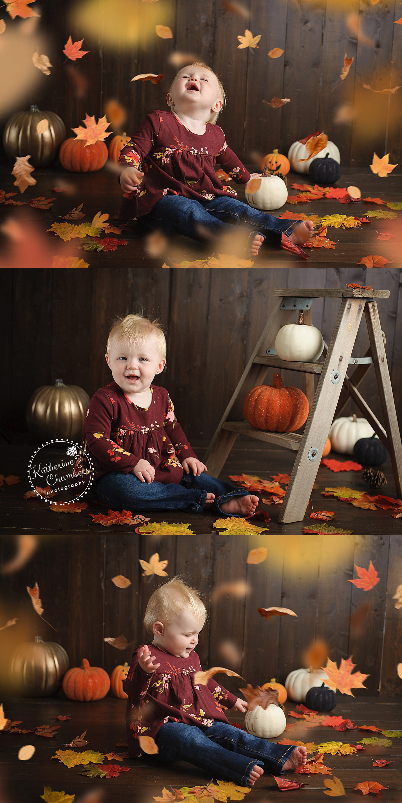 Cleveland Baby Photographer, Fall Studio Photos, One Year Session
