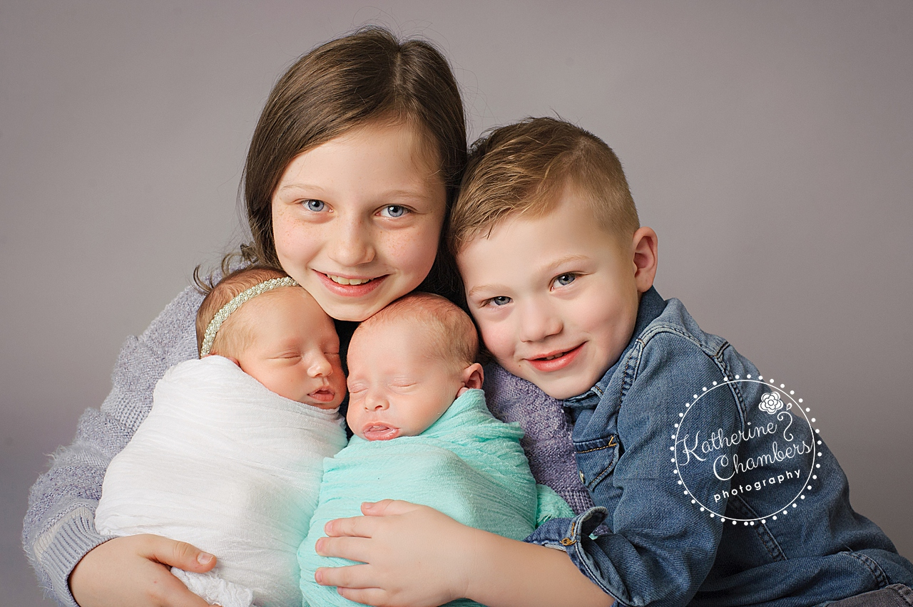 Twins with Siblings, Boy/Girl Twins, 4 Children