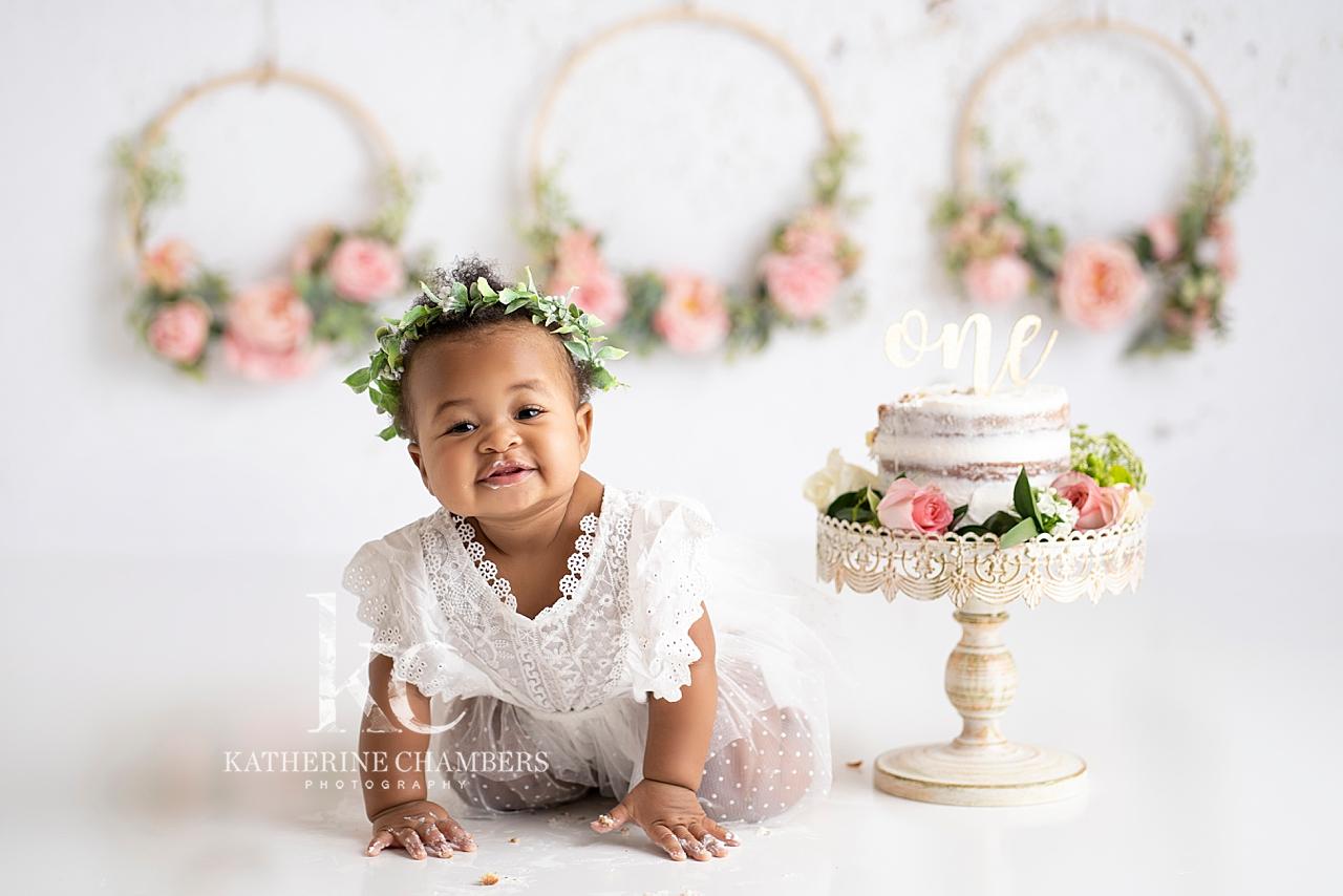 Floral Hoops Cake Smash