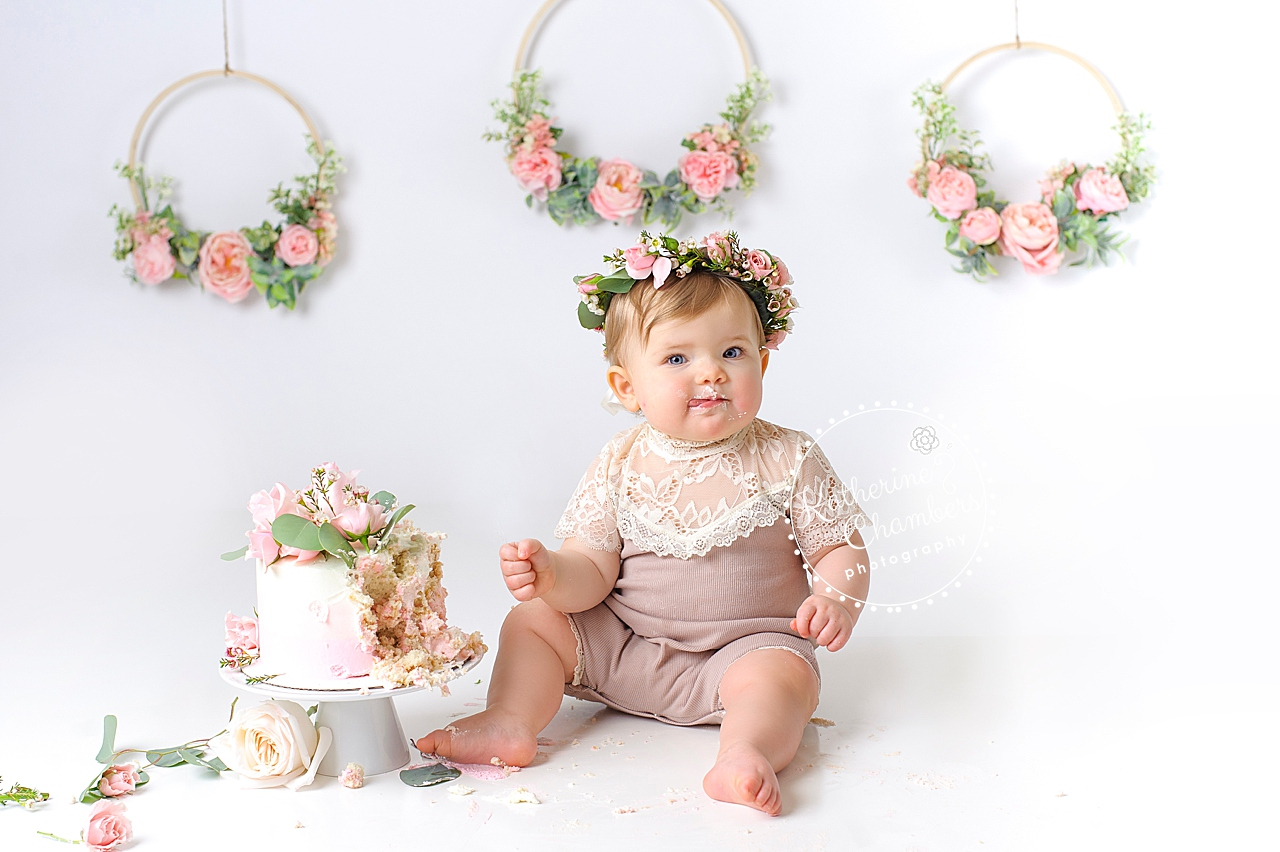 Avon Ohio Baby Photographer, Cleveland Cake Smash, Baby's First Year