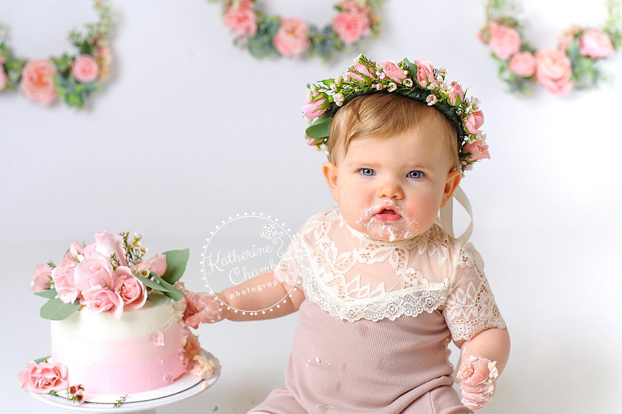 Cleveland Cake Smash, Avon Studio Photographer, Baby's First Year