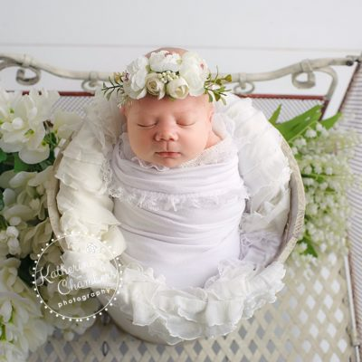 Newborn Photographer Cleveland, Floral Newborn Photography, Photography Studio