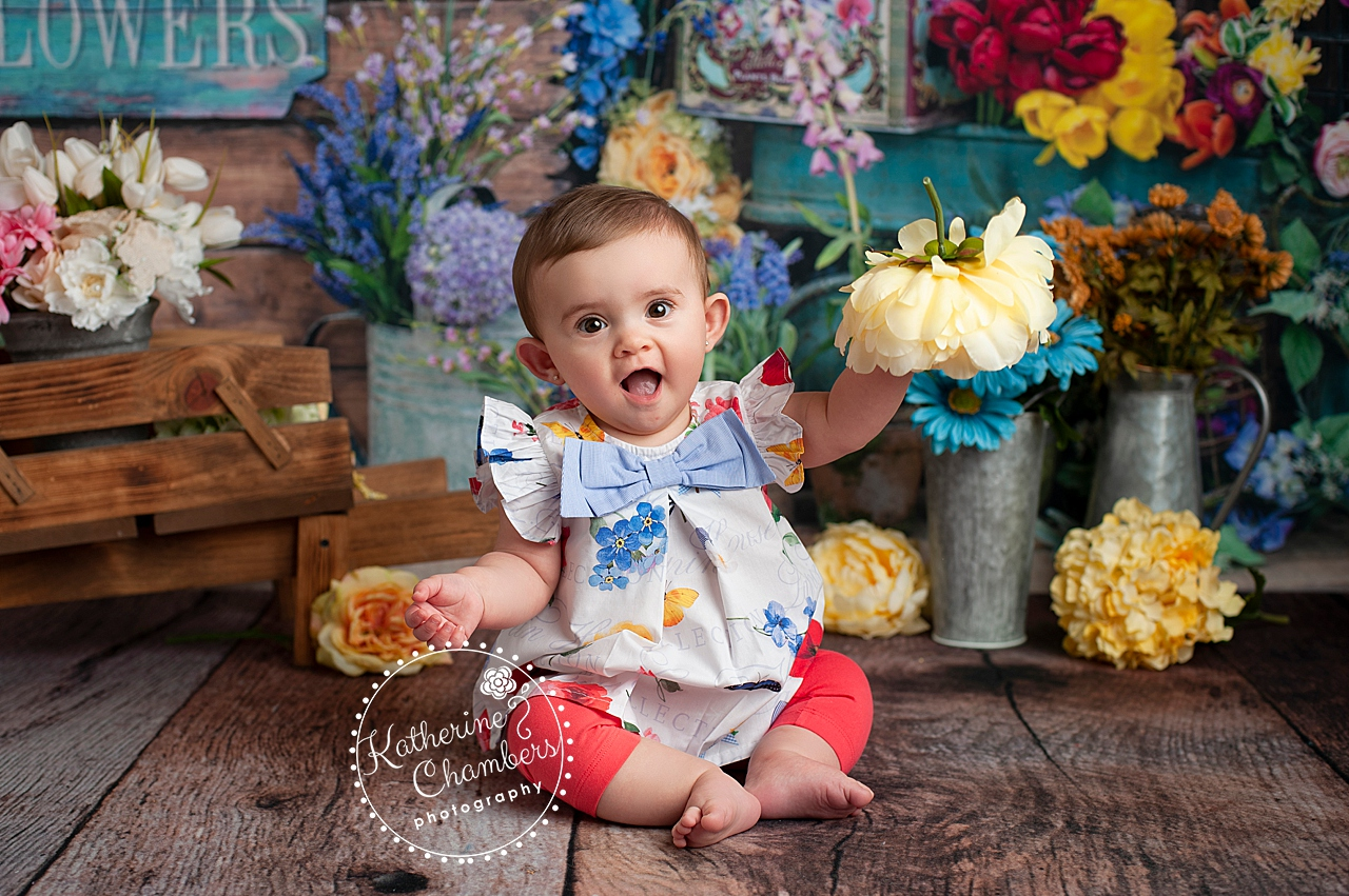 Flower Market Baby Session, Floral Baby Session, Cleveland Baby Photographer