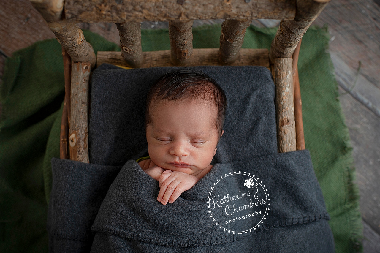 Westlake Newborn Photographer, Woody Newborn Photo, Winter Baby