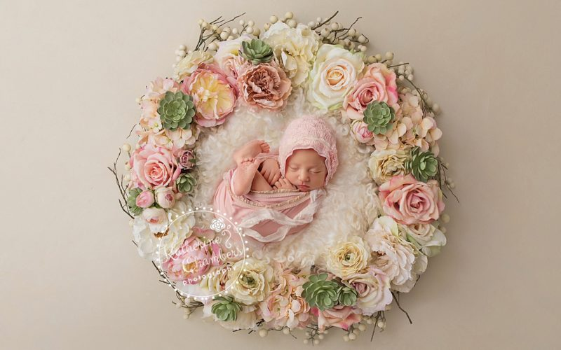 Newborn Photographer Cleveland | Floral Newborn Photos