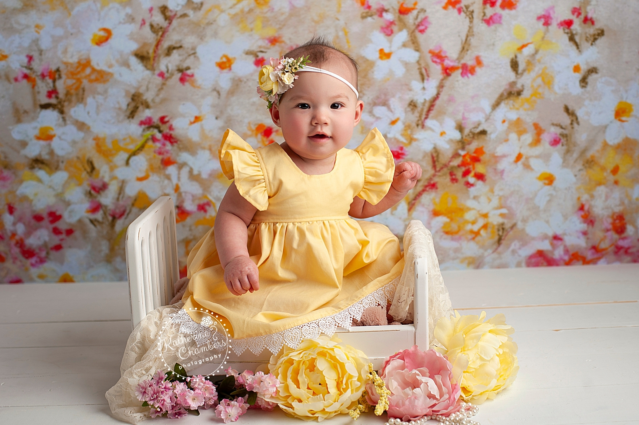 Floral Baby Photography