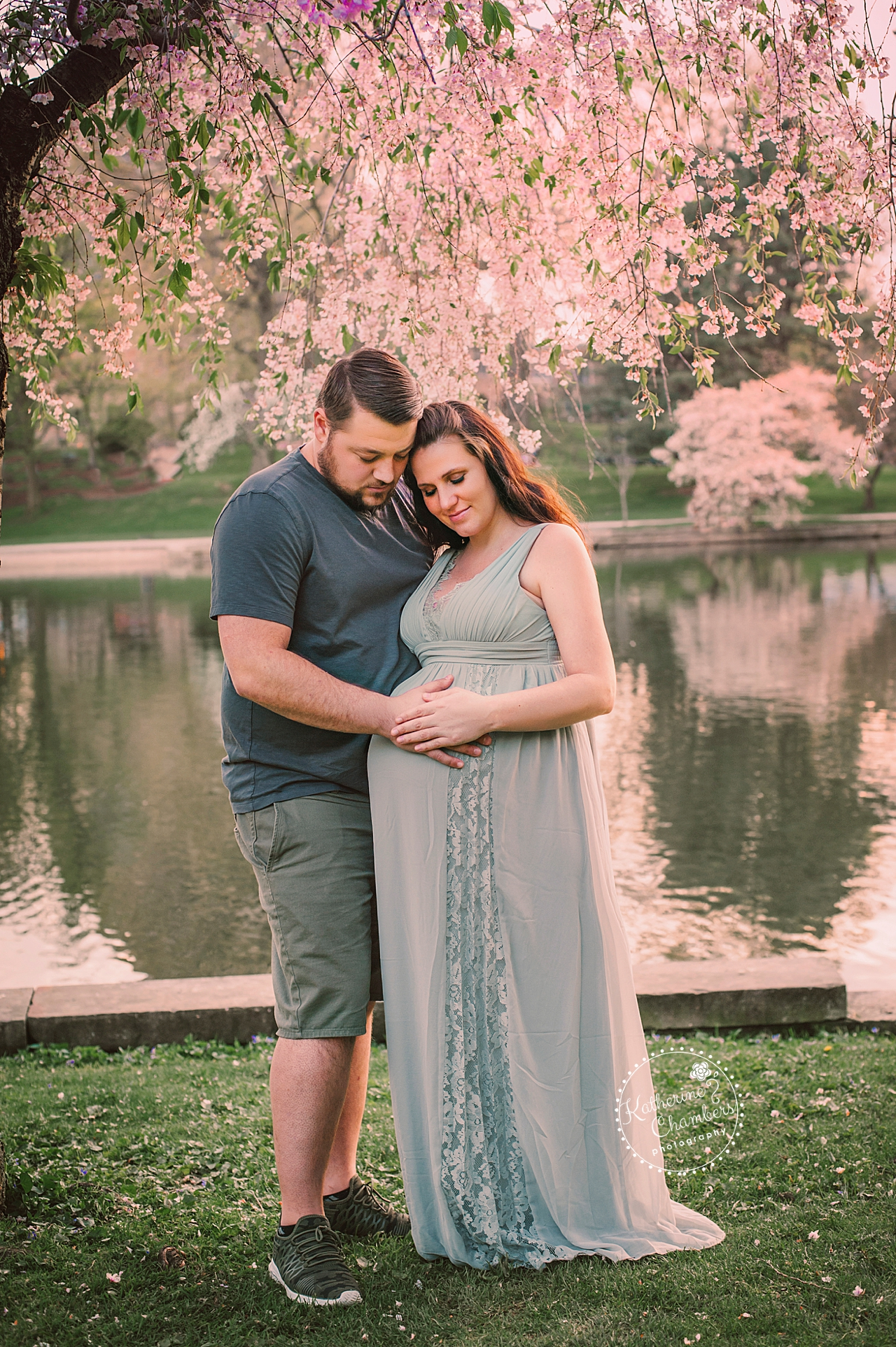 Cleveland Maternity Photographer, Cleveland Newborn Photographer, Cherry Blossom Trees