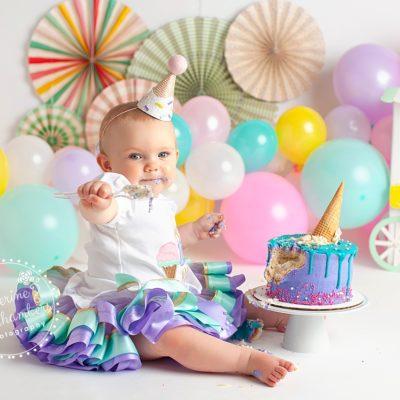Ice Cream Cake Smash | Avon Cake Smash Photographer