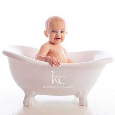 One Year Bubble Bath | Avon Baby Photographer