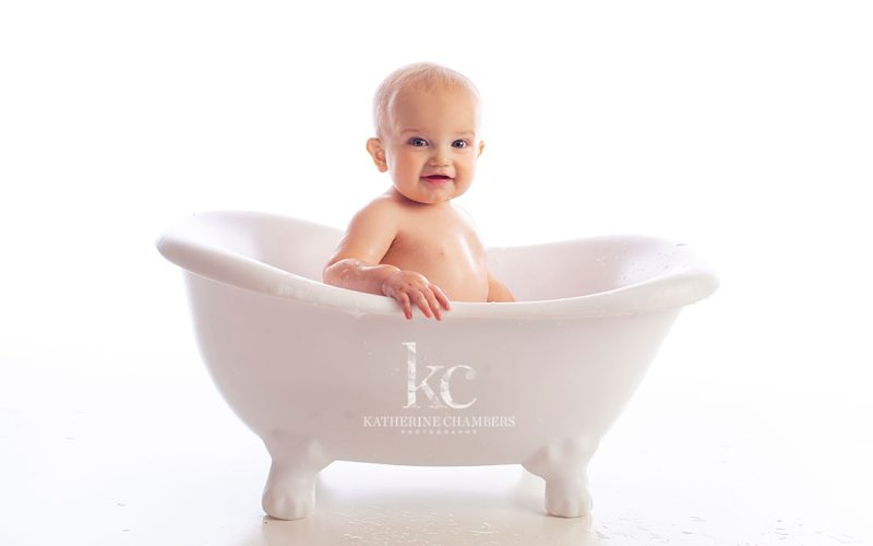 One Year Bubble Bath | Avon Baby Photographer