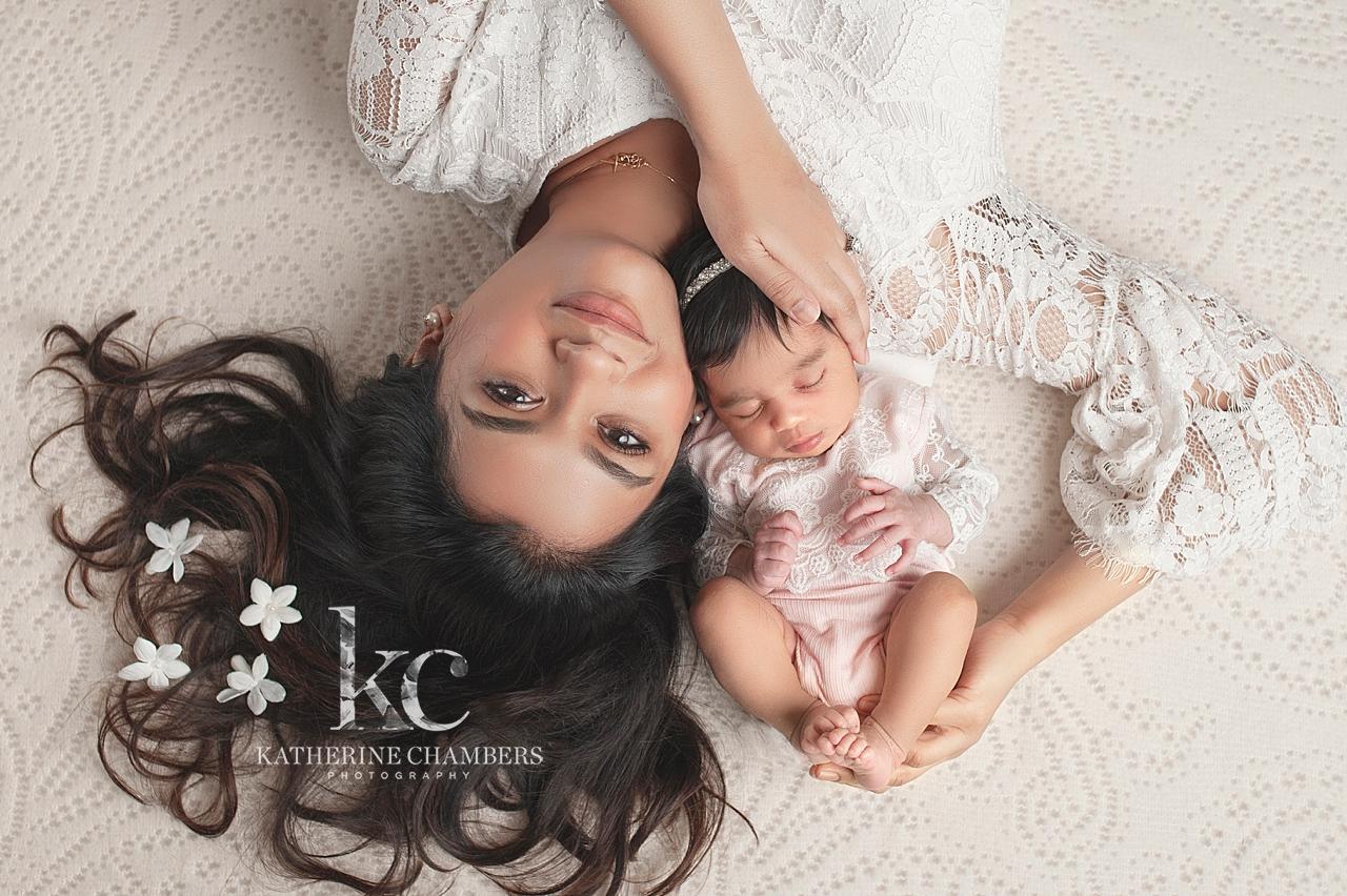 Mom with Newborn Portrait