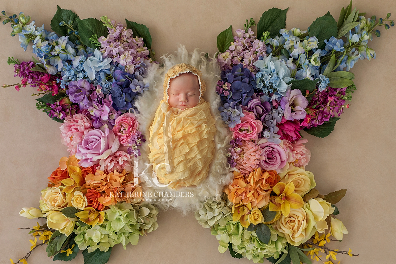 Floral Butterfly | Newborn Photography in Cleveland