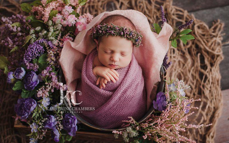 Cleveland Newborn Photographer | Floral Newborn