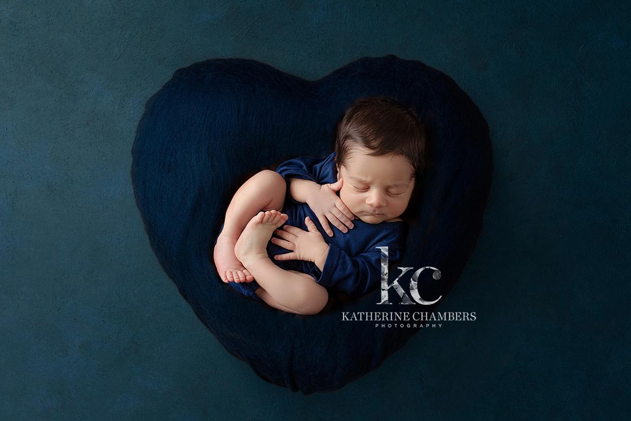 Creative Newborn Photography | Heart Cushion