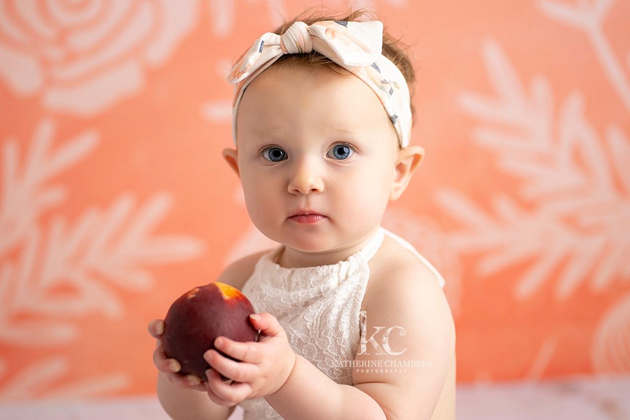 Georgia Peach Baby Photography